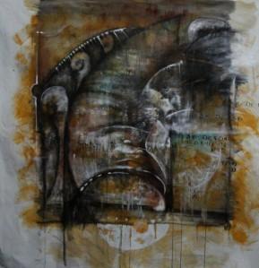 Acrílico sobre tela, 158 X 158 cm , 2012